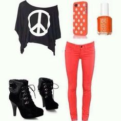 Cute Outfits for Teens | Peace | Cute teen outfits!:)
