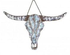 Foto: Grote houten kop / Bull aan decoratief touw van het merk PTMD. Afmetingen: 74 X 3 X 46 cm.. Geplaatst door zuzzenzowonen op Welke.nl