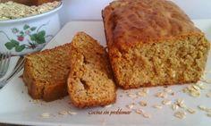 Cake de avena y manzana sin azúcar