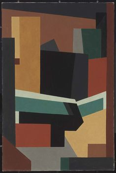 niles spencer paintings -(1893–1952)  From the mid-1940s until around 1951, Spencer moved even further towards abstraction, creating complex compositions combining extremely simplified architectural forms, mainly those of industrial America.