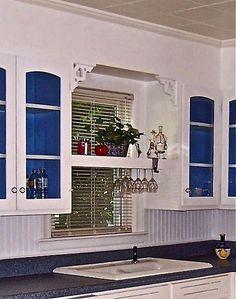 Kitchen Window Shelf With Wine Glass Rack Underneath