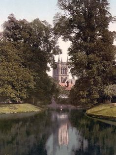 St. Johns College chapel from the river, Cambridge