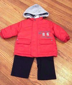 New Rebels Red Black Football Coat Pants Long Sleeve 3 Pc Set Baby Boy Sz 12 Mo #Rebels #Everyday