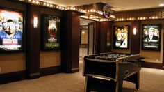A little bit over the top...but if you're going to be theatrical in your decor, the entertainment room is the most appropriate setting!