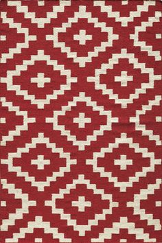 Red Diamond Flat Weave Indoor/Outdoor Rug, available online at www.TheLookInteriorsNH.com