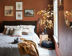DIY DUPLEX | Orange Room Makeover!!! | I Spy DIY | Bloglovin' Orange Rooms, I Spy Diy, Dream Bedroom, Comfort Zone, Indoor, Furniture, Interior Design, Wall, Modern