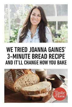 We Tried Joanna Gaines' Bread Recipe is part of Bread recipies - We've just discovered the best thing since sliced bread Joanna Gaines' sweet bread breadmaker recipe Incredibly versatile, and only 3 minutes to prep! Bread Bun, Keto Bread, Bread Rolls, Bread Baking, No Yeast Bread, Yeast Free Breads, No Knead Bread, Healthy Recipes, Cooking Recipes