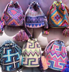 WHICH 1 BEST FITS YOUR STYLE? ONLY ☝️ OF EACH! ️ Each #WayuuBag is Handmade In The Colombian Desert And Each Took 20 Days To Crochet. . . . . . . . . . . . . . . . . . . . . #wayuubags #colombianbags #wayuumo