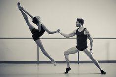 "Adji Cissoko and Jiří Jelinek, both of National Ballet of Canada, rehearse ""Chroma."" Photo by Dylan Tedaldi."