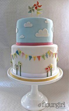 Whirlygig Baby Shower Cake