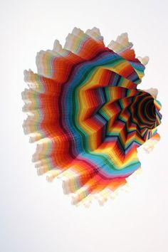 Jen Stark #colour #paper #sculpture