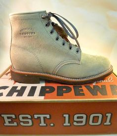 """Chippewa 6"""" Sand Suede Service Boot. Pinkomo.fi"""