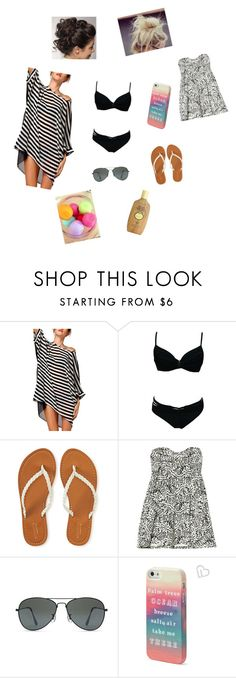 """""""Beach Stuff"""" by wrundown on Polyvore featuring Aéropostale, Billabong, Forever 21, Eos and Sun Bum"""