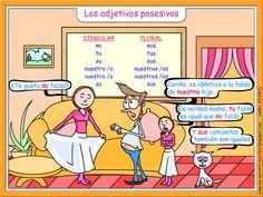 Spanish words: Possessives. Me encanta escribir en español - Los adjetivos posesivos http://me-encanta-escribir.blogspot.fr/