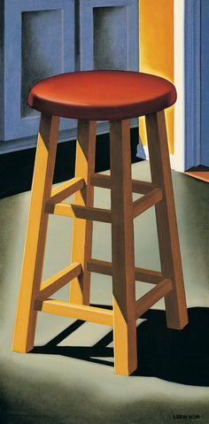 """Kenton Nelson """"Kitchen Furniture"""" oil on panel"""