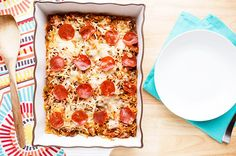 Recipe:+Supreme+Pizza+Pasta+Casserole