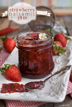 Strawberry Balsamic Jam - to serve with a cheese plate