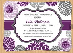 Bridal shower invitation / baby shower by TheOlivePressPaper, $18.75