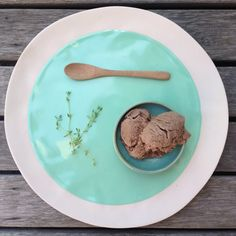 Chocolate thyme ice cream