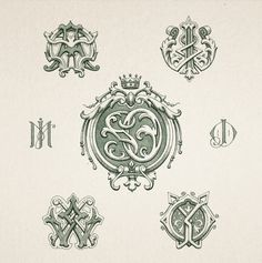 Amazing Monograms from Creative Mints. Again, fantastic attention to details. (via Dribbble)