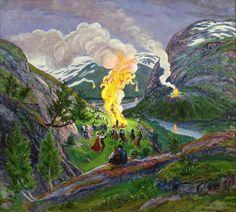 Julie K. Rose: Jonsok (Midsummer's Eve) in Scandinavia