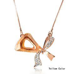 Unique Angel Style Cubic Zirconia Dangling Necklace