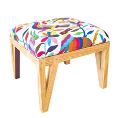 Mexican Otomi Ottoman by peterwgilroy - What a way to brighten up your living room