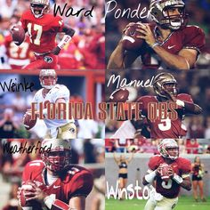 History of the QB's. Charlie Ward, Drew Weatherford, Chris Weinke, Christian Ponder, EJ Manuel, Jameis Winston.