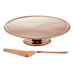 2-Piece Copper & Stainless Steel Cake Stand & Server Set | Joss & Main
