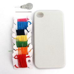 iPhone 4 Cross Stitch Case | Fab.com  Now they need to make one for the iPhone 5! I could pick my favorite subversive snarky pattern and stitch away!