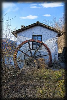 Old water mill in Italy
