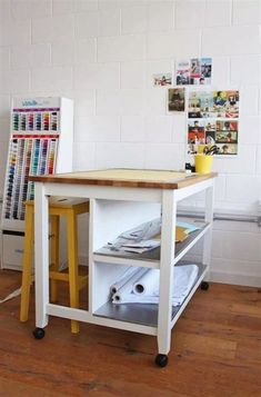 Tilly and the Buttons: Cutting Table Hack Ikea Stenstorp kitchen island Kitchen Island Bench, Kitchen Islands, Ikea Island Bench, Ikea Island Hack, Ikea Bench, Ikea Stool, Island Stools, Craft Room Tables, Craft Space