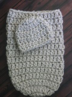This crochet pattern set is for an adorable little newborn baby cocoon and beanie set that is fast and easy to crochet! You can use a big, soft, bulky yarn, and a large crochet hook, and finish a set very quickly. Wonderful Photography Prop! PATTERN ONLY--NOT FINISHED PRODUCT. PLEASE NOTE: When you purchase a pattern, you will receive an instant, automatically generated email with a link and directions, and your pattern will be available for immediate download. :-) (Please check your spam…