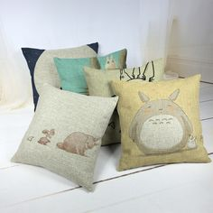 Cartoon Style Fashion Decorative Cushions Cute Totoro Printed Throw Pillows Car Home Decor Cushion Decor Cojines #>=#>=#>=#>=#> Click on the pin to check out discount price, color, size, shipping, etc. Save and like it!