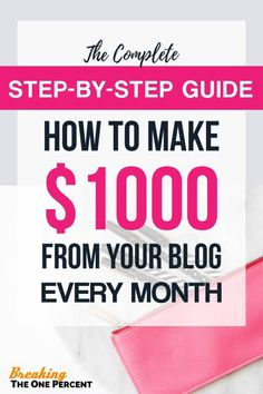 This simple step by step guide does more than just teach you how to start a blog. It teaches beginners the exact methods we used to make money blogging, how we earned our first $1,000 and how anyone can start generating passive income fast.