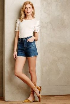 Anthropologie Alexa Chung for AG High-Rise Fifi Shorts #anthrofave
