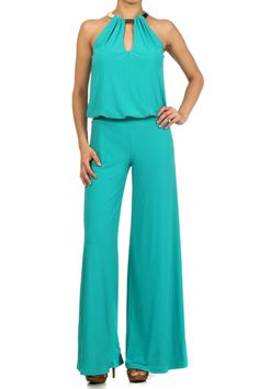 How would you style the Jumpsuit ? Solid Color Full Length Sleeveless Halter Jumpsuit.
