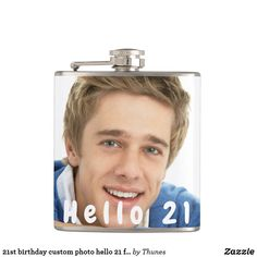 birthday custom photo hello 21 for guys flask 21st Birthday, Custom Photo, Flask, Special Events, Party Supplies, Party Themes, Unique Gifts, Guys, Gender