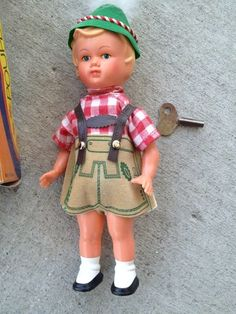 Wind-up Dancing Doll WEST Germany With Key