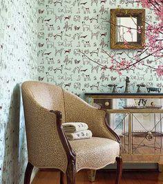 Thibaut's Best In Show wallpaper - Hen's toddler room