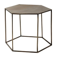 Copper-plated metal coffee table W 60cm