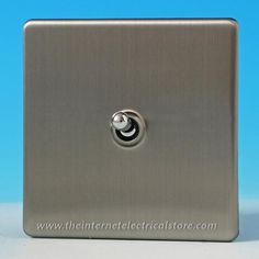 Varilight Brushed Matt Chrome Stainless Steel Switches Sockets Screwless Plate | eBay