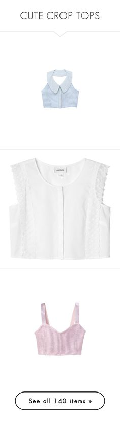 """""""CUTE CROP TOPS"""" by dark-splendor ❤ liked on Polyvore featuring tops, crop tops, shirts, tank tops, daisy print top, cropped shirts, shirt top, daisy-print shirts, blue top and blouses"""