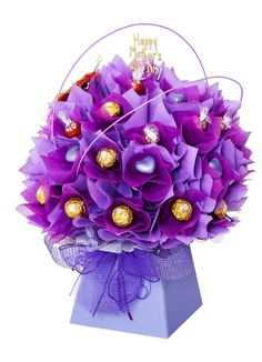 Mothers day pink and lilac chocolate bouquet                              …