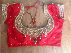 Sequins Blouse in Red | Saree Blouse Patterns