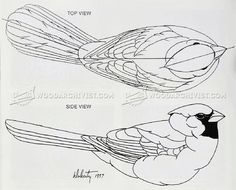 #756 Cardinal Carving – Wood Carving Patterns - Wood Carving Patterns and Techniques