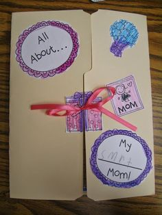 Super cute Mother's Day ideas! Crayons & Cuties In Kindergarten: Mother's Day Lapbook, 'Diamond' Necklace and Tea!