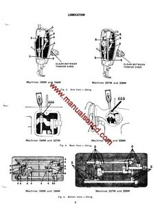 Singer 193M, 194M, 227M, 228M Sewing Machine Service Manual  Manual includes:  * Presser foot height. * Set Feed dog height. * Adjust needle bar height. * Remove and replace needle bar tension. * Wiring diagram and more!  28 page service manual.