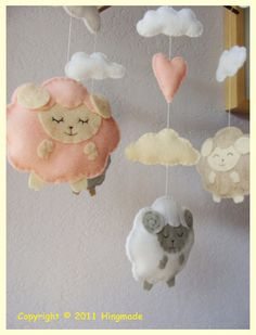 little lamb baby mobile