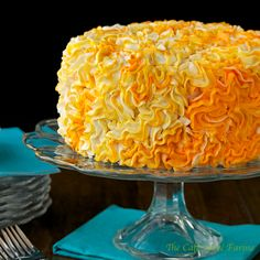 Vanilla Cake w/ Strawberry Filling & Meyer Lemon Buttercream